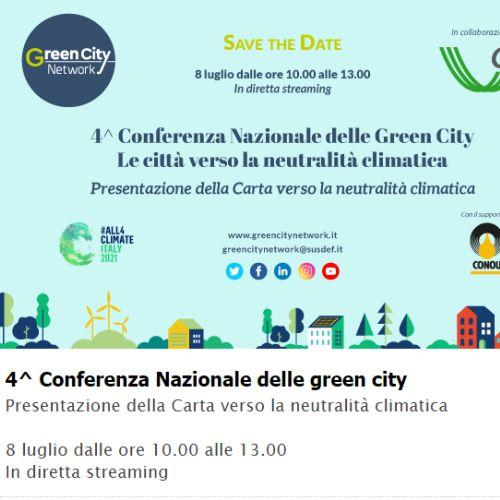 """Conferenza Nazionale Green City: """"Le città verso la neutralità climatica"""""""