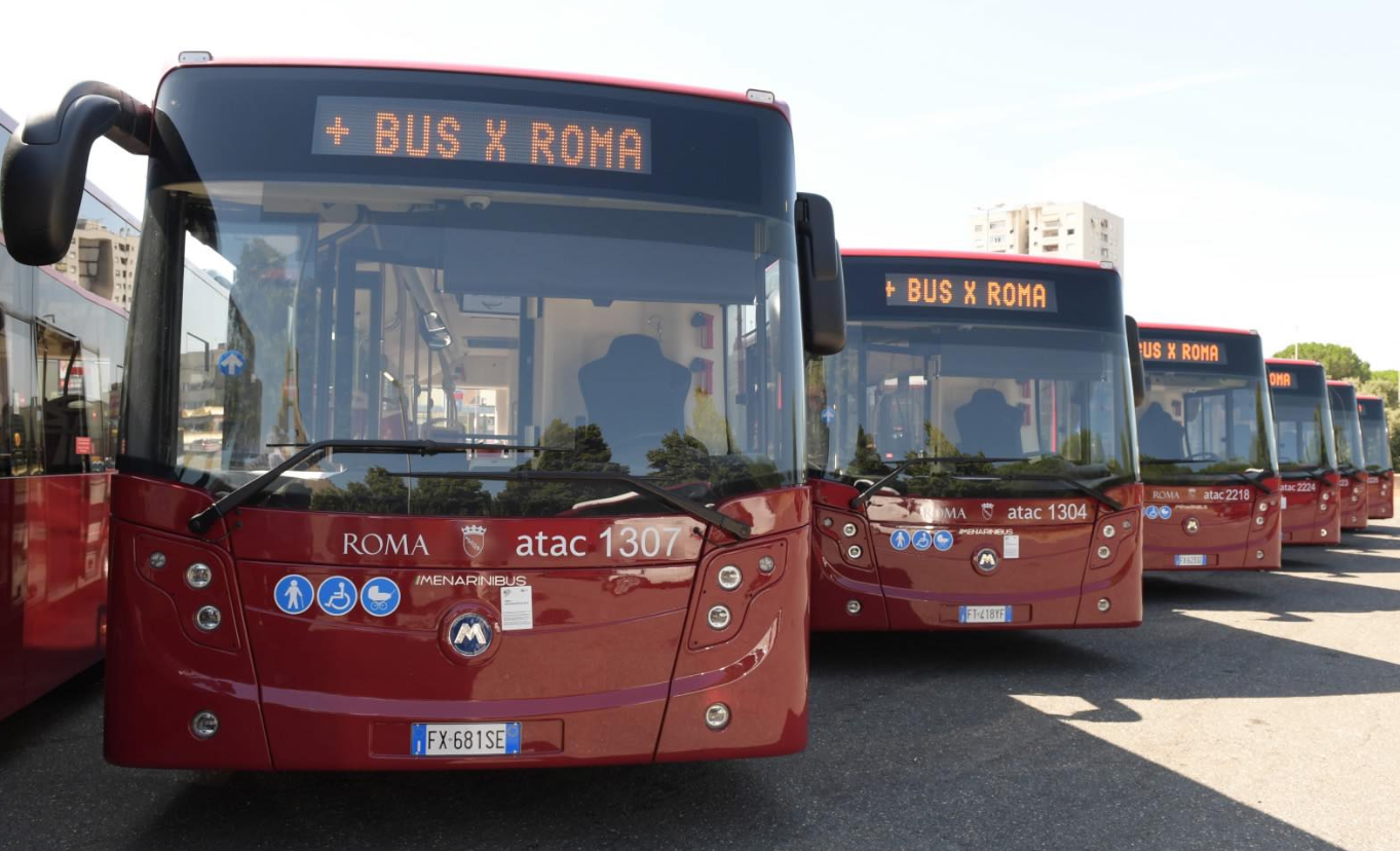 Bus a Roma: solo il 55% del trasporto pubblico è elettrico